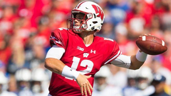 Wisconsin Badgers quarterback Alex Hornibrook.