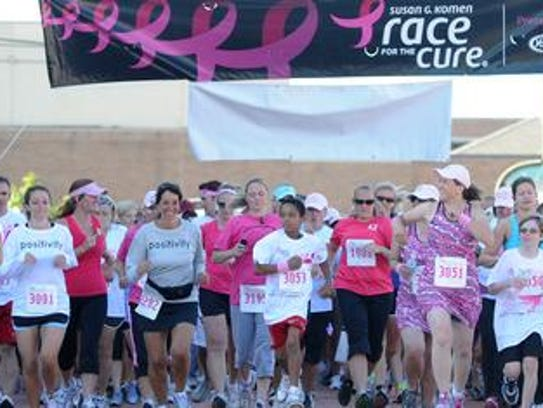 The annual Susan G. Komen Race for the Cure will be