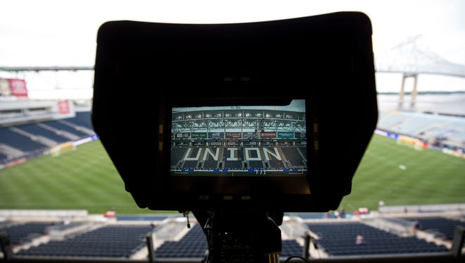 A general view of Talen Energy Stadium as seen through a camera.