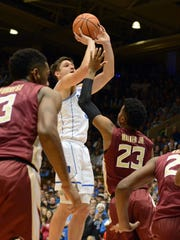Duke guard Grayson Allen drills a shot with Florida