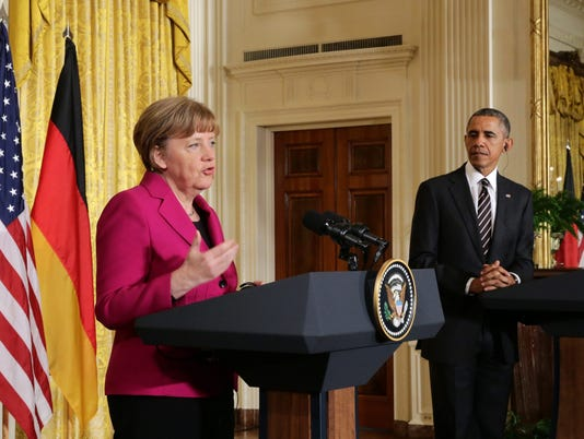 EPA USA GERMANY MERKEL OBAMA POL DIPLOMACY USA DC