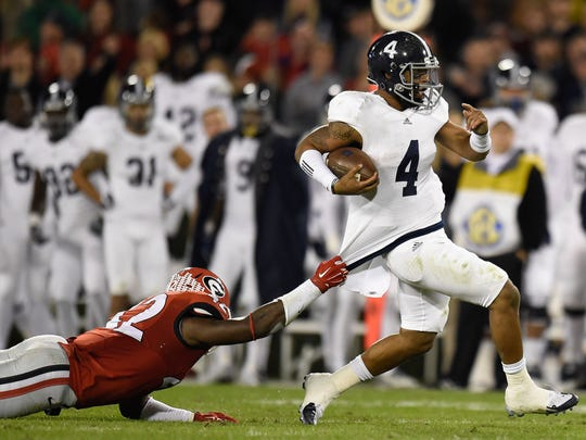 Georgia Southern QB (4) Kevin Ellison is one of the Sun Belt's best with the ball in the open field, but he's been erratic as a passer over his career.