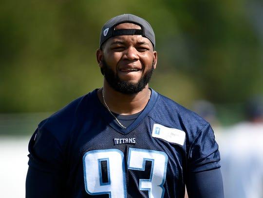 Titans outside linebacker Kevin Dodd on July 31, 2016.
