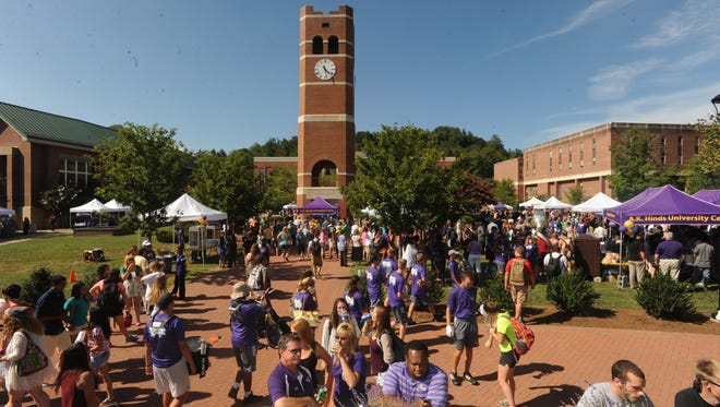 Western Carolina University celebrates the 125th year of its founding Tuesday afternoon on the A.K. Hinds University Center lawn and the adjoining Central Plaza in this file photo.