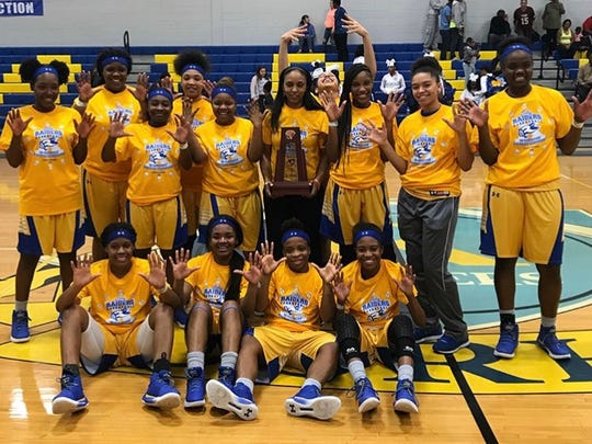 Rickards' girls basketball team won its 10th consecutive district title on Friday night, beating Godby 67-51.