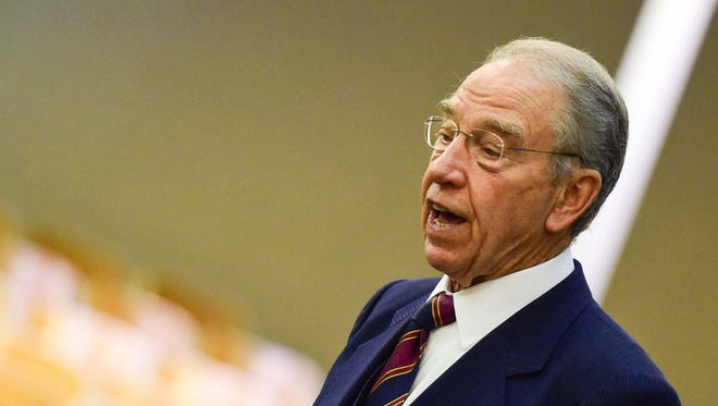 Sen. Chuck Grassley, a member of both the Senate agriculture and judiciary committees.
