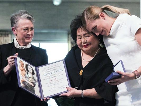 APTOPIX Norway Nobel