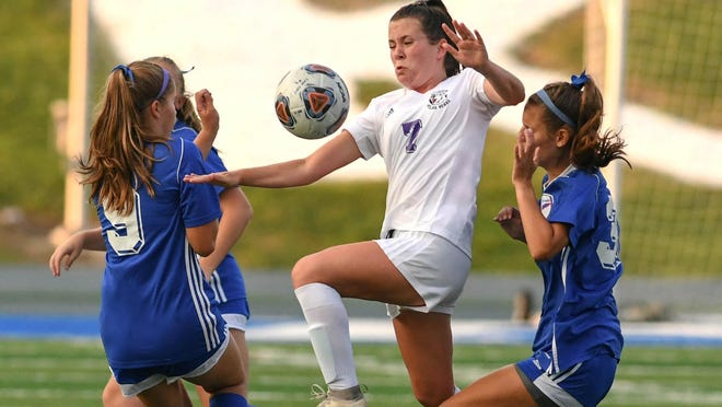 Jackson's girls soccer team picked up a 3-0 Federal League win against Lake on Sept. 9.