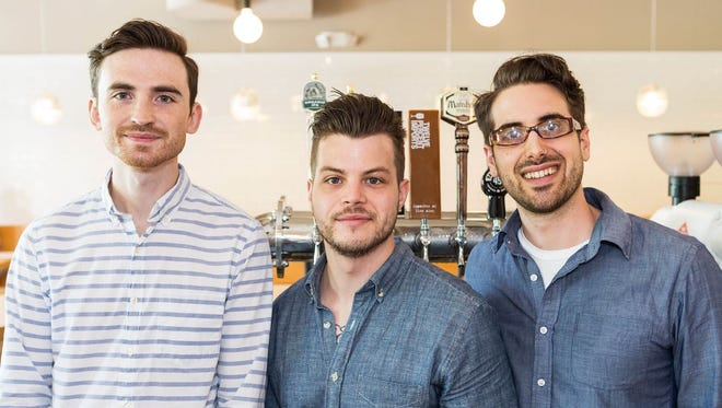 Sean Stewart, Nathanael Mehrens and Jamie Cunningham, owners of Steadfast Coffee, opened a new coffee and cocktail bar in downtown Nashville.
