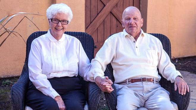 Pat and Pete Oleson enjoy their 65th wedding anniversary with family in Sonoma, Calif.
