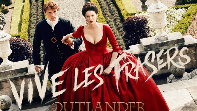 Jamie (Sam Heughan), left, and Claire (Caitriona Balfe) are in France when Season 2 of Starz' 'Outlander' begins on April 9.