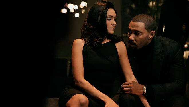 "Lela Loren (Angela) and Omari Hardwick (James ""Ghost"" St. Patrick) star in ""Power."""