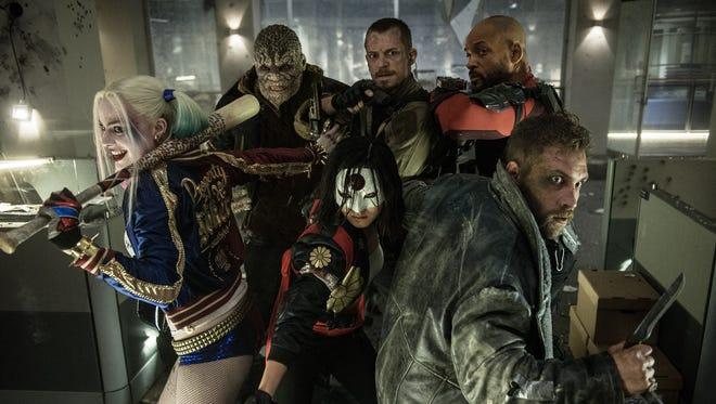 Harley Quinn (Margot Robbie), Killer Croc (Adewale Akinnuoye-Agbaje), Katana (Karen Fukuhara), Rick Flagg (Joel Kinnaman), Deadshot (Will Smith) and Captain Boomerang (Jai Courtney) are ready for action in 'Suicide Squad.'