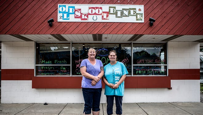 Amber Stambaugh and Nancy Beumel stand in front of the diner they opened a few weeks ago called Old Skool Diner. The diner is located on North Cedar Street and offers a wide variety of breakfast and lunch options for an affordable price.
