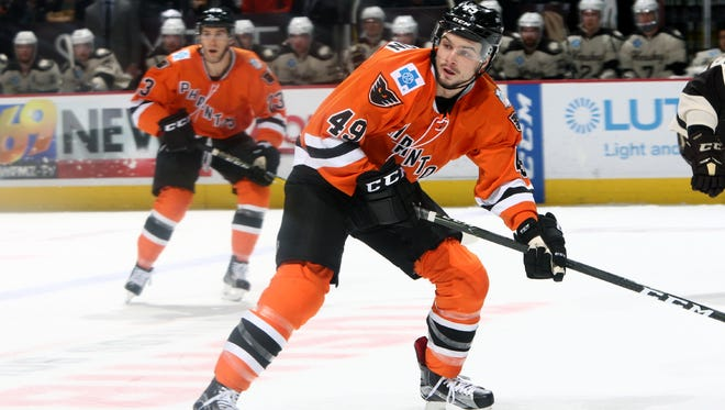 Scott Laughton is being used in a more defensive role with the Lehigh Valley Phantoms.