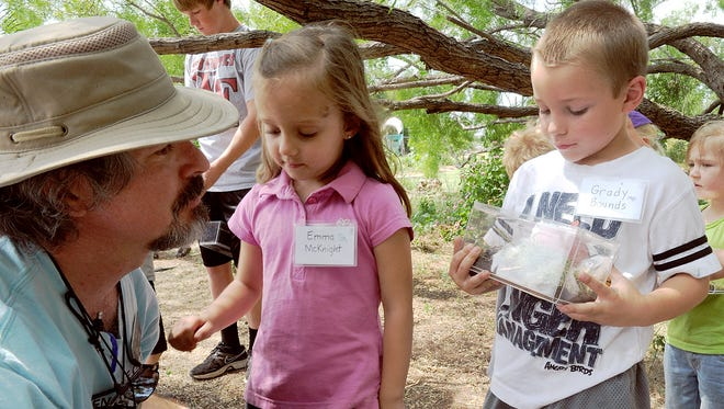 Youngsters participate in a previous day camp at River Bend Nature Center. This year's spring break camp will focus on science March 13-17.