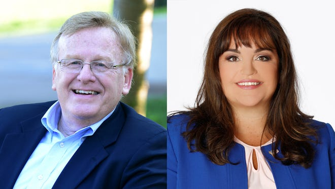 Ken McClure and Kristi Fulnecky are running for mayor. The municipal election will be held on April 4.