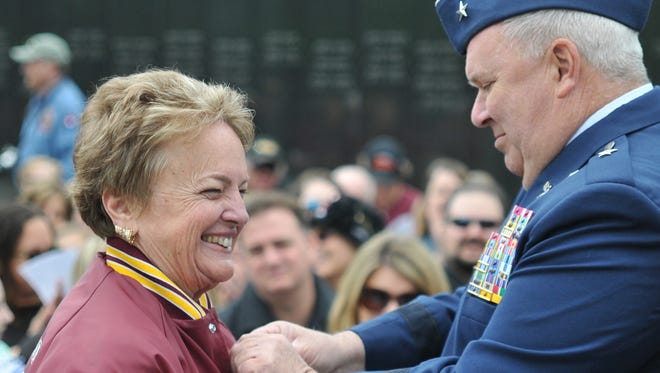 The New Jersey Department of Military and Veterans Affairs held a medal ceremony May 7 at the New Jersey Vietnam Veterans Memorial in Holmdel.