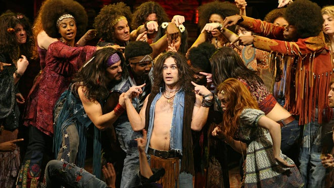 "The musical ""Hair"" returned to Broadway for a revival in 2009."
