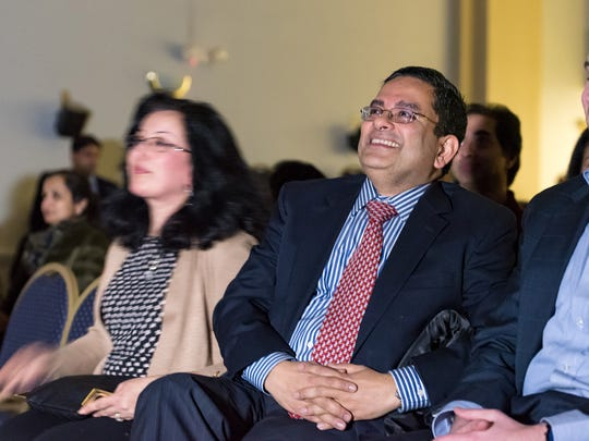 "Arun and Reema Malhotra, parents of Mohan Malhotra, 18, of Wilmington, enjoy watching their son's appearance on ""Jeopardy!"" as part of the game show's annual College Championships."