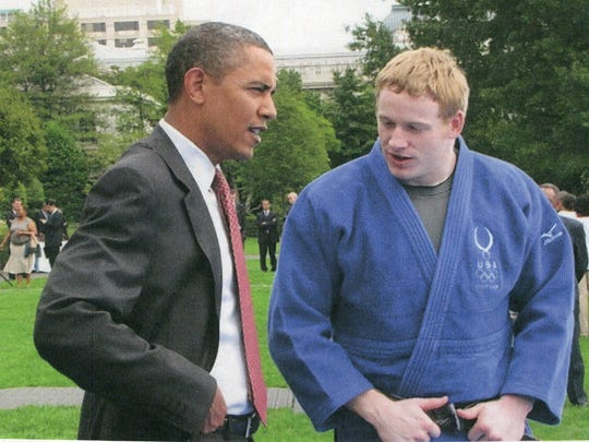 Fremont Ross graduate Myles Porter has demonstrated judo to President Obama at the White House. Porter competes in his third Paralympic Games next month.