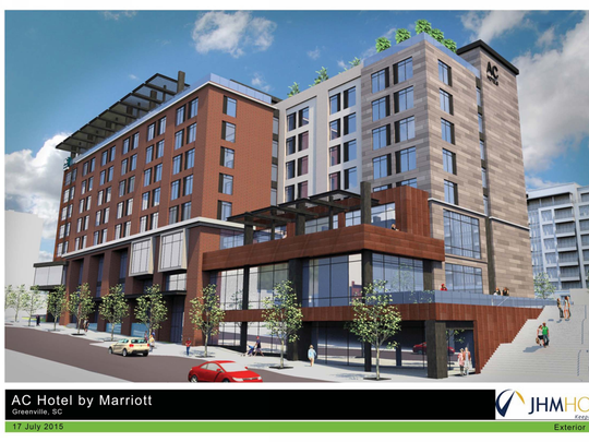 Developers of the planned AC Hotel on Main Street say they want to use newspaper artifacts in the design of the building, which will rise on the site of the old Greenville News complex.