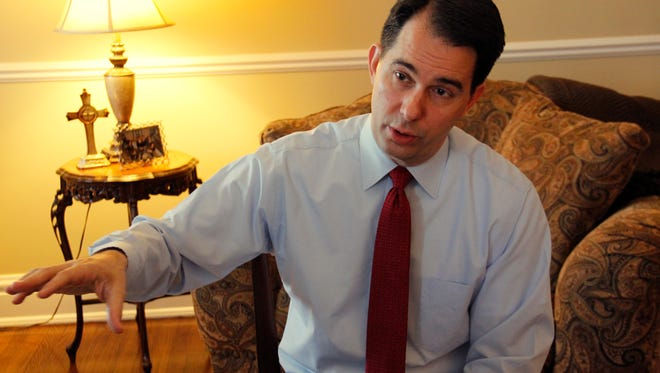 Gov. Scott Walker at the executive residence on Tuesday.
