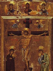 This 12th Century icon from St. Catherine's Monastery, located on the Sinai Peninsula, depicts the Crucifixion of Jesus. Many of the icons located in the remote monastic community are among the world's oldest, having survived the Iconoclastic controversy.