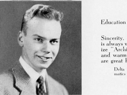 John Archibald pictured in his 1943 yearbook.