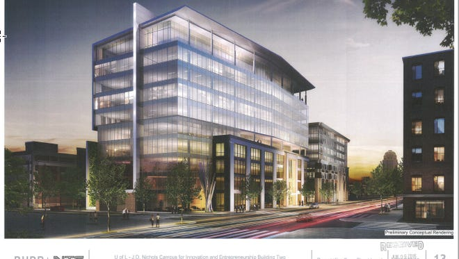NTS rendering of proposed U of L nucleus building