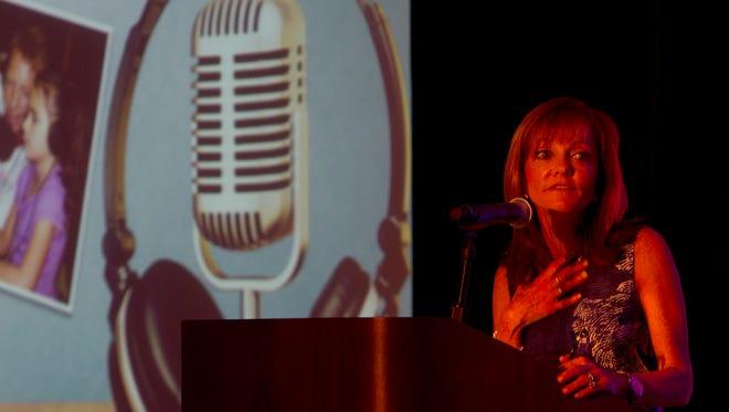 Keynoter Caroline Beasley speaks about her family business, Beasley Broadcast Group.