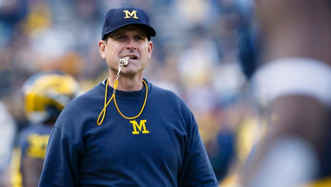 Michigan coach Jim Harbaugh will be at Pearl High Wednesday for a satellite camp.