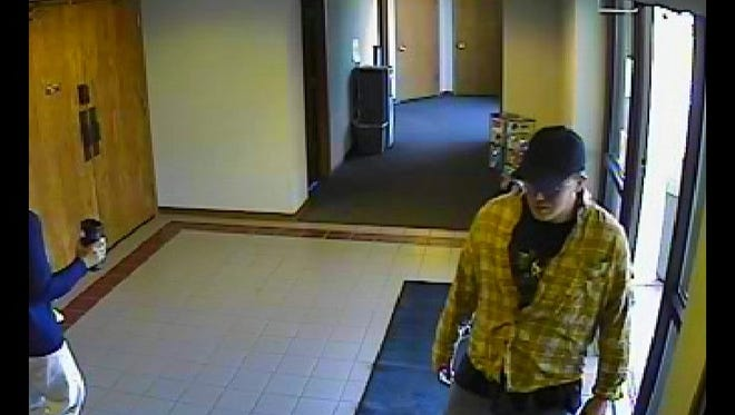 Security footage of the suspect.