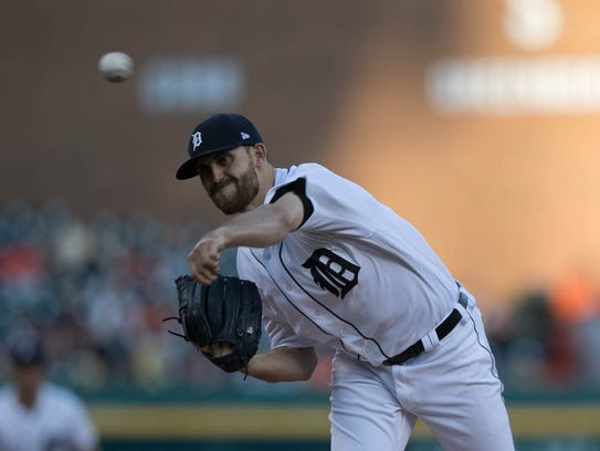 Tigers pitcher Matthew Boyd throws during the first