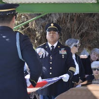 Family, friends and hundreds of Tulare residents gathered Tuesday at St. Aloysius Church to celebrate the life of Manuel Toledo.Toledo, who died on Jan. 30, was the founder of AMVETS Post 56 in Tulare. He also belonged to approximately 50 veterans, civic and fraternal organizations. Tuesday's service included a rosary and mass at the church. At the Tulare District Cemetery, the burial included military honors and the playing of taps.Manuel is survived by his wife of 73 years, Lorry Toledo of Tulare; daughter Yvonne Toledo of Visalia; son Michael and his wife Rauleen of Hawaii; daughter Annette Toledo Eckert of Visalia; and daughter Michelle Toledo Cantrell and her husband Jeremy of Tulare.