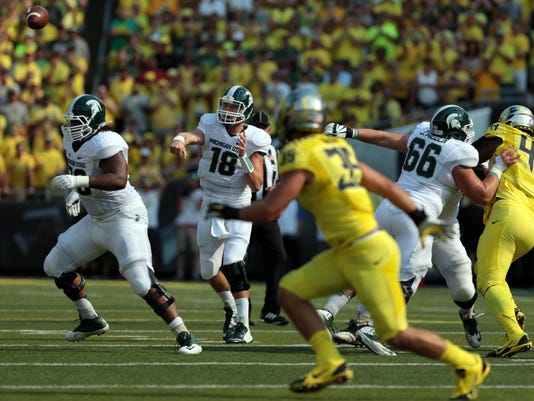 NCAA Football: Michigan State at Oregon