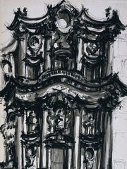Michael Graves, S. Carlino (San Carlo alle Quattro Fontane) Rome Ink on paper, 1961