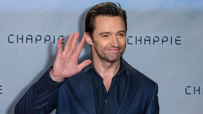 Hugh Jackman attends a fan event for the film 'CHAPPIE' at Mall of Berlin on February 27, 2015 in Berlin, Germany.