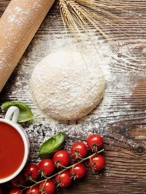 Start with delicious homemade pizza dough, which can be made a day ahead and stored in the refrigerator.