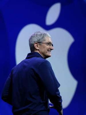 Apple CEO Tim Cook says his company hired more diverse candidates in the past 12 months than in any previous year.