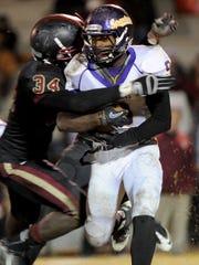 Linebacker Zach Cunningham (84) earned legendary status at Pinson Valley High School in Alabama.