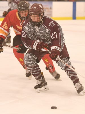 Don Bosco junior Mickey Burns (27) led North Jersey with 35 assists in the 2016-17 hockey season.