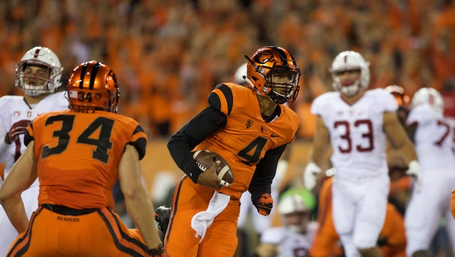 Seth Collins (No. 4) could help Oregon State's offense in a variety of ways this season.