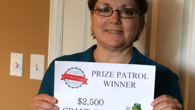 Georgi Payne won first prize in the Child Advocacy Center's recent Prize Patrol fundraiser.