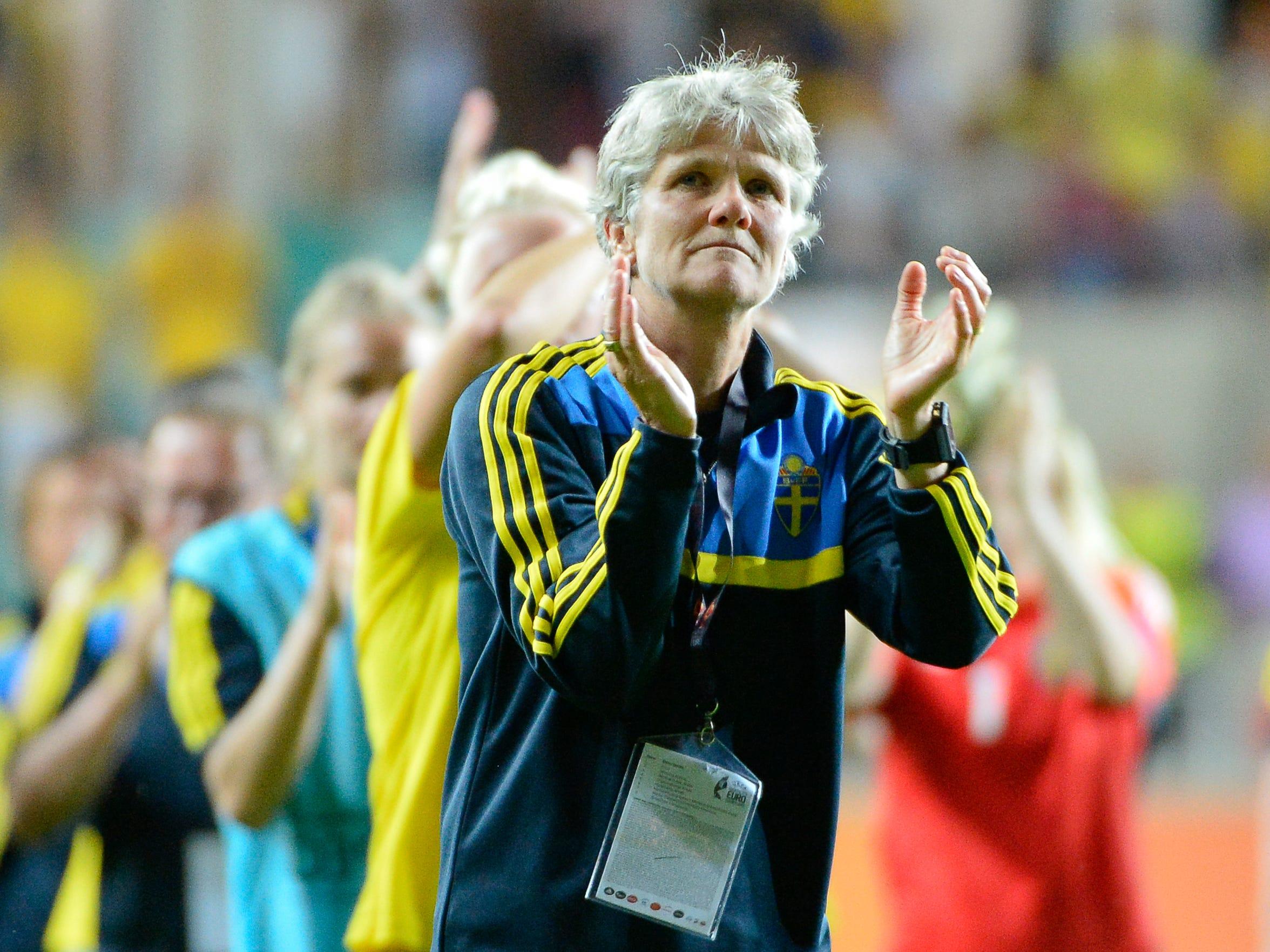 Sweden head coach Pia Sundhage.