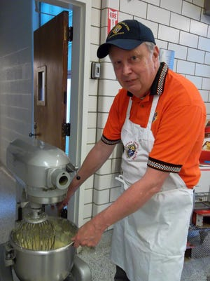 Carl Biery continues the Knights of Columbus tradition at the pancake breakfast. It's scheduled for Feb. 21.