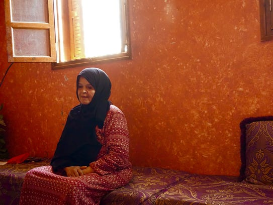 Rkia Ouabi at home in her house in the Sakan Al Widadiyt