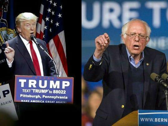 politics donald trump bernie sanders debate