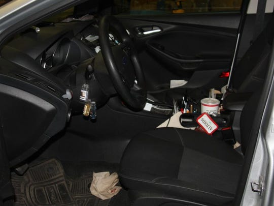 The driver's seat of Jeff Altmayer's vehicle he used