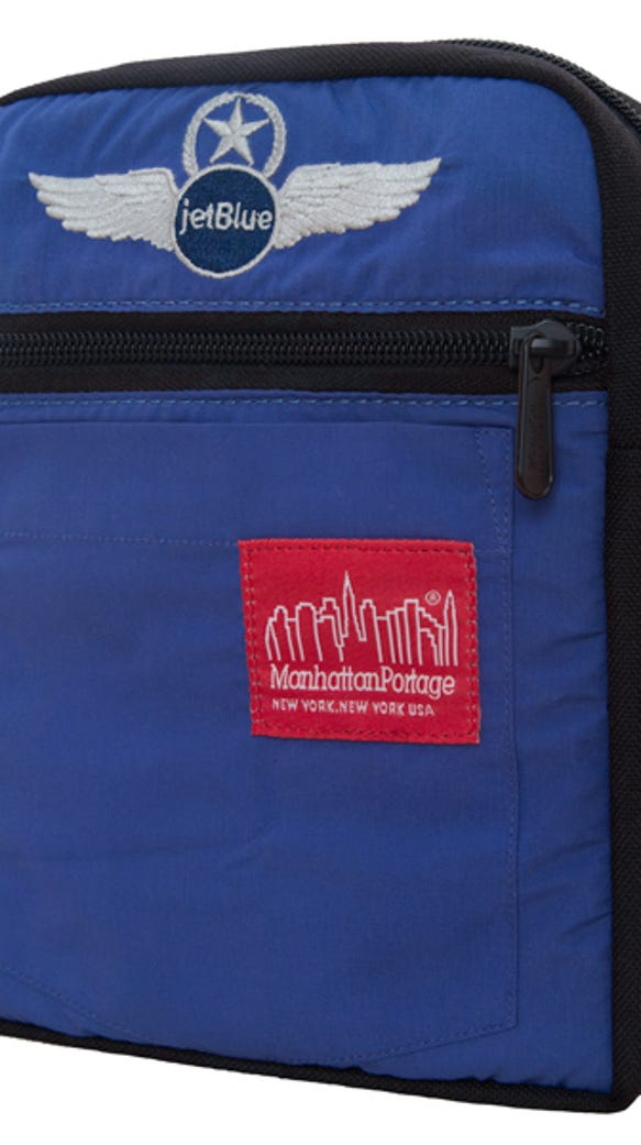 The City Lights Bag is made out of recycled pilot shirts,